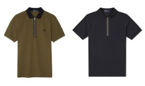 M4572 Zip Neck Polo Shirt by Fred Perry