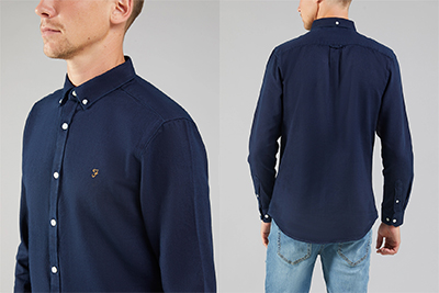 Brewer Indigo Oxford Shirt by Farah