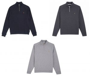 F4KS80H3 Jim 1/4 Zip Sweatshirt by Farah