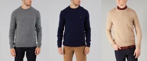 FEFG0124 Rosecroft Crew Neck Knitwear by Farah