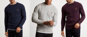 KN732V Cable Jumper by Lyle and Scott