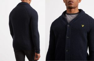 KN917V Shawl Neck Cardigan by Lyle and Scott