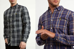 Poplin Fine Check Shirt by Lyle and Scott