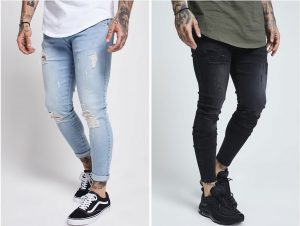 Skinny Distressed Jean by Sik Silk