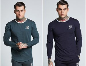 Long Sleeve Ringer Gym T Shirt by Sik Silk