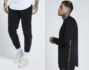 Sik Silk Taped Joggers and Sweatshirt