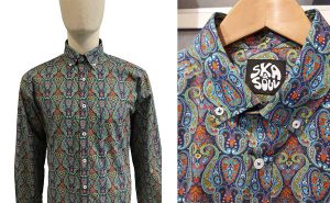 Digital Paisley Print Shirt by Ska and Soul