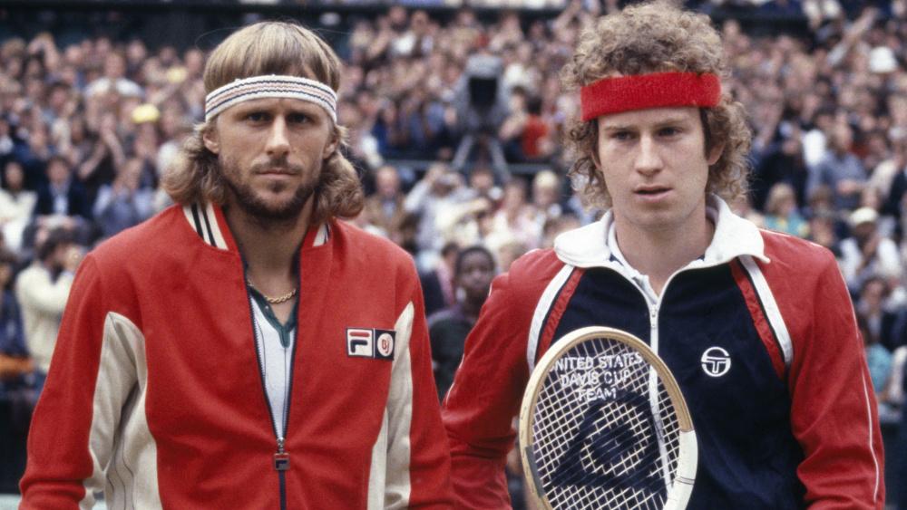 Bjorn Borg wearing Fila and John McEnroe Sergio Tacchini