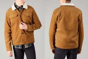 F4RF8029 Kingsland Fur Collar Jacket by Farah