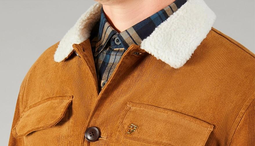 Farah Kingsland Fur Collar Jacket