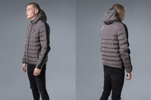 Axwell Hooded Quilted Jacket by Gym King
