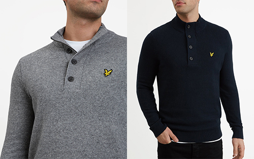 KN1003V 1/4 Zip Jumper by Lyle and Scott
