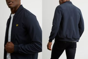JK905VZ Soft Shell Bomber Jacket by Lyle and Scott