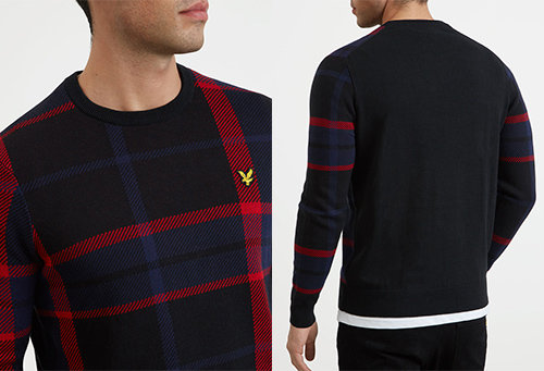 KN1004V Tartan Jumper by Lyle and Scott