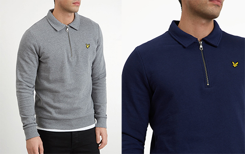 ML1005V Collared 1/4 Zip Sweatshirt by Lyle and Scott