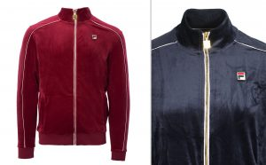 Linekar Velour Track Jacket by Fila