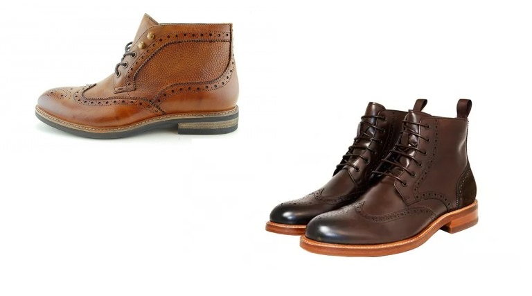 Midland Brown Brogue Boot by John White