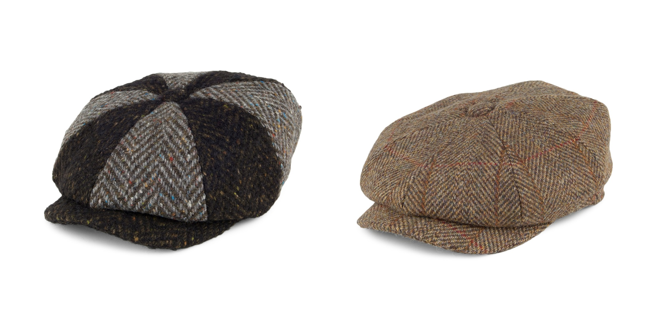 Carloway Harris Tweed Bakerboy Hat by Failsworth