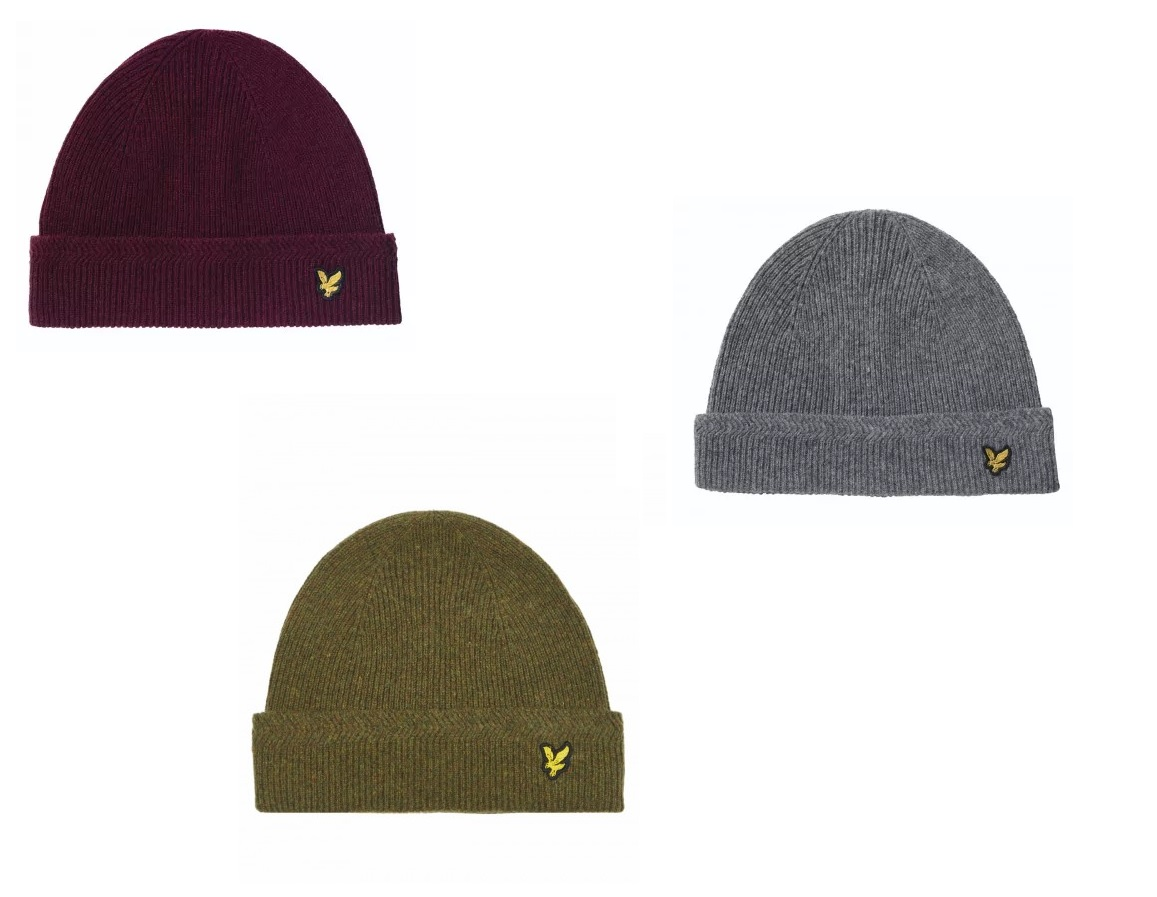 HE305CL Racked Rib Beanie by Lyle and Scott
