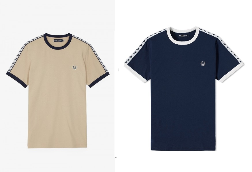 M6347 Taped Ringer T Shirt by Fred Perry