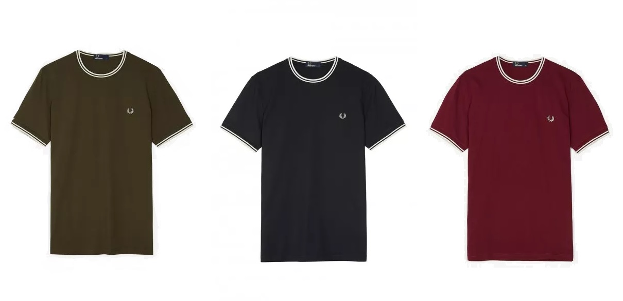 Twin Tipped T Shirt (M1588) by Fred Perry -- £40