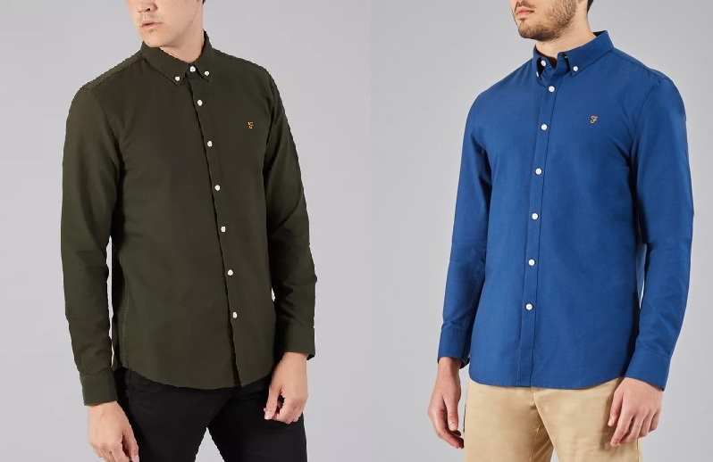 Farah Brewer Oxford Shirt