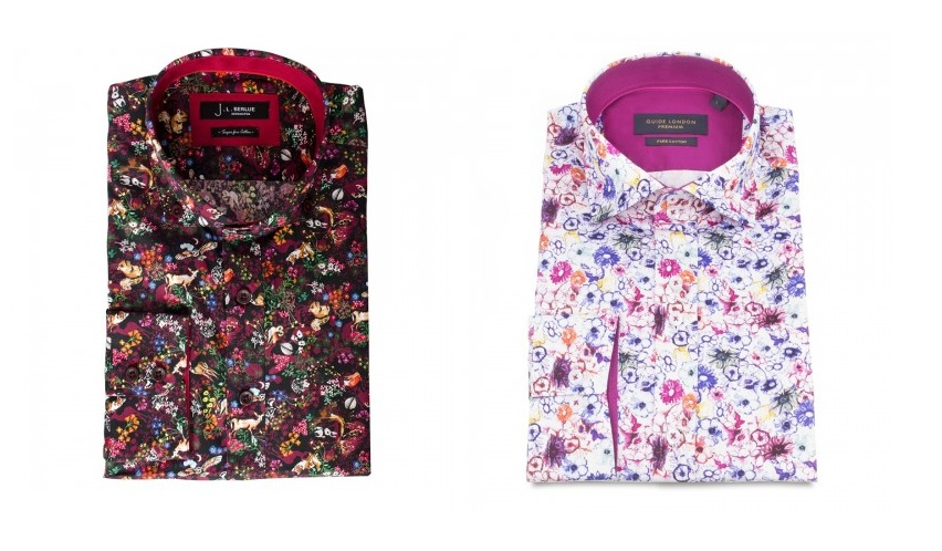 Smart casual flowery shirts by Jiggler Lord Berlue and Guide London