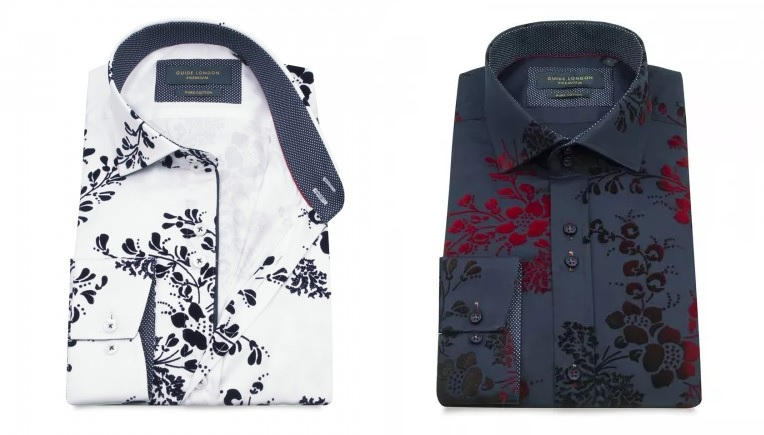 Guide London Flocked Floral Shirts