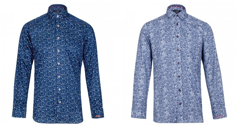 "Jiggler Lord Berlue ""Oak"" Floral and ""Flay"" Paisley Shirt"