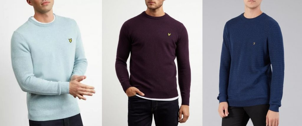 Lightweight knitted jumpers by Lyle & Scott and Farah
