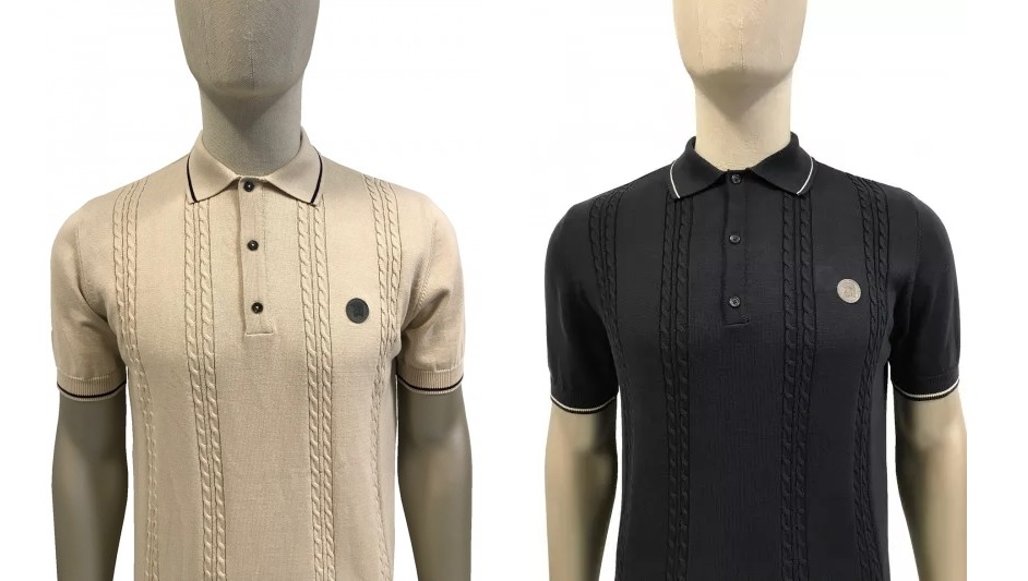 TR8360 Cable Knitted Polo Shirt by Trojan
