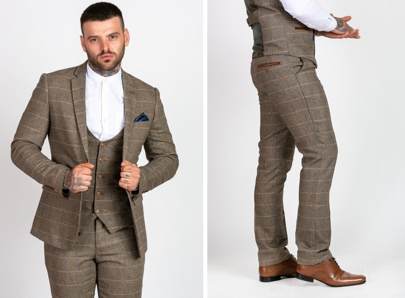 Marc Darcy Ted Tweed Blazer Jacket and Trousers