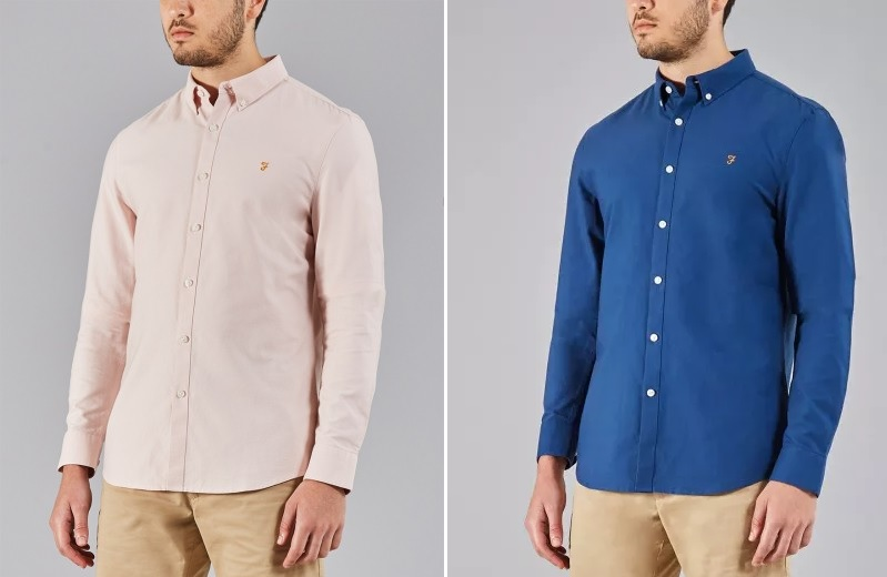 Farah Oxford Shirts in Pink and Regatta Blue