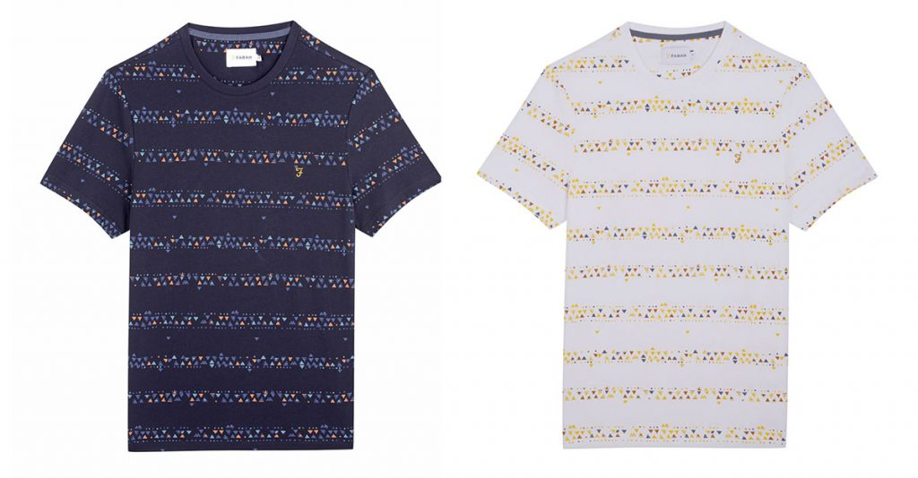 Wilpshire Triangle Print T Shirt by Farah