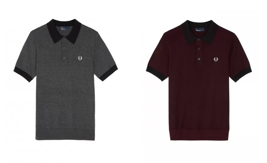 Fred Perry Contrast Knitted Polo Shirts