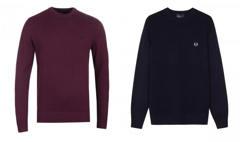 Fred Perry Pique Texture Jumpers