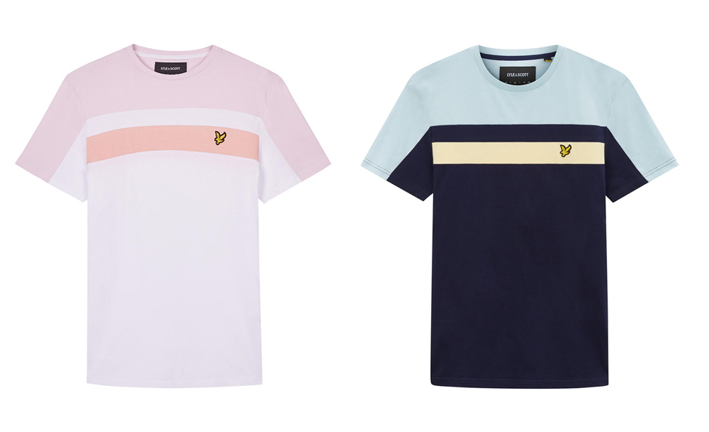 Colour Block T Shirt by Lyle and Scott