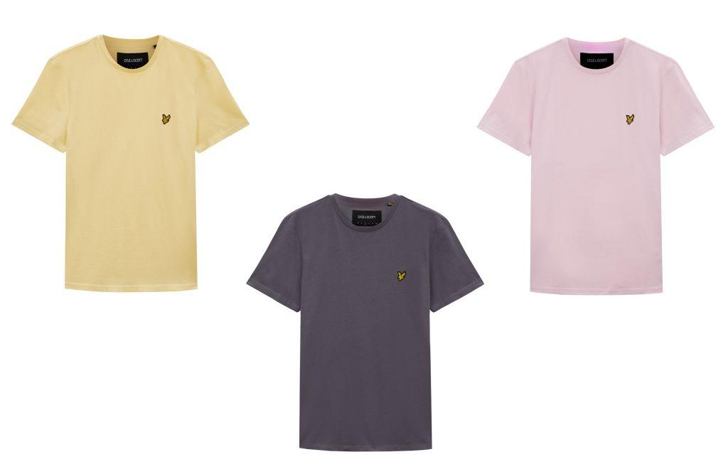 Lyle & Scott Plain T Shirts summer colours