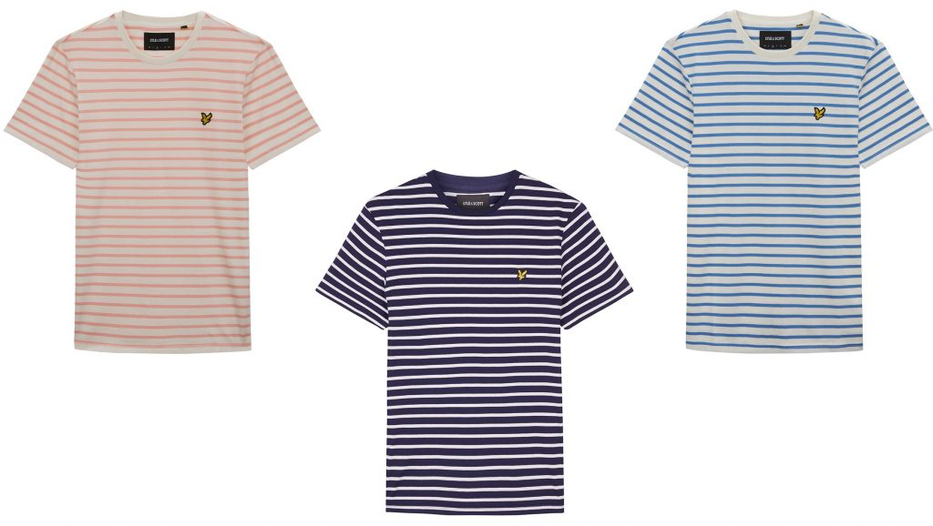 Breton Stripe T Shirt by Lyle and Scott