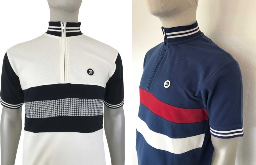 Houndstooth  /  Stripe Front Polo Shirts by Trojan