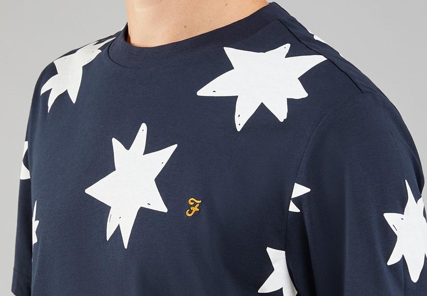 Farah star print T-shirt