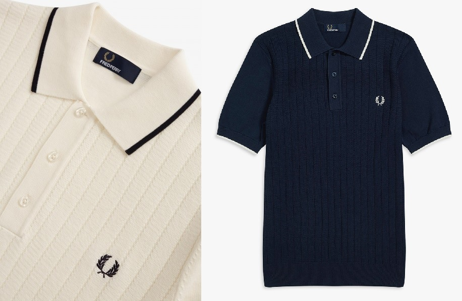 Textured Front Knitted Polo by Fred Perry