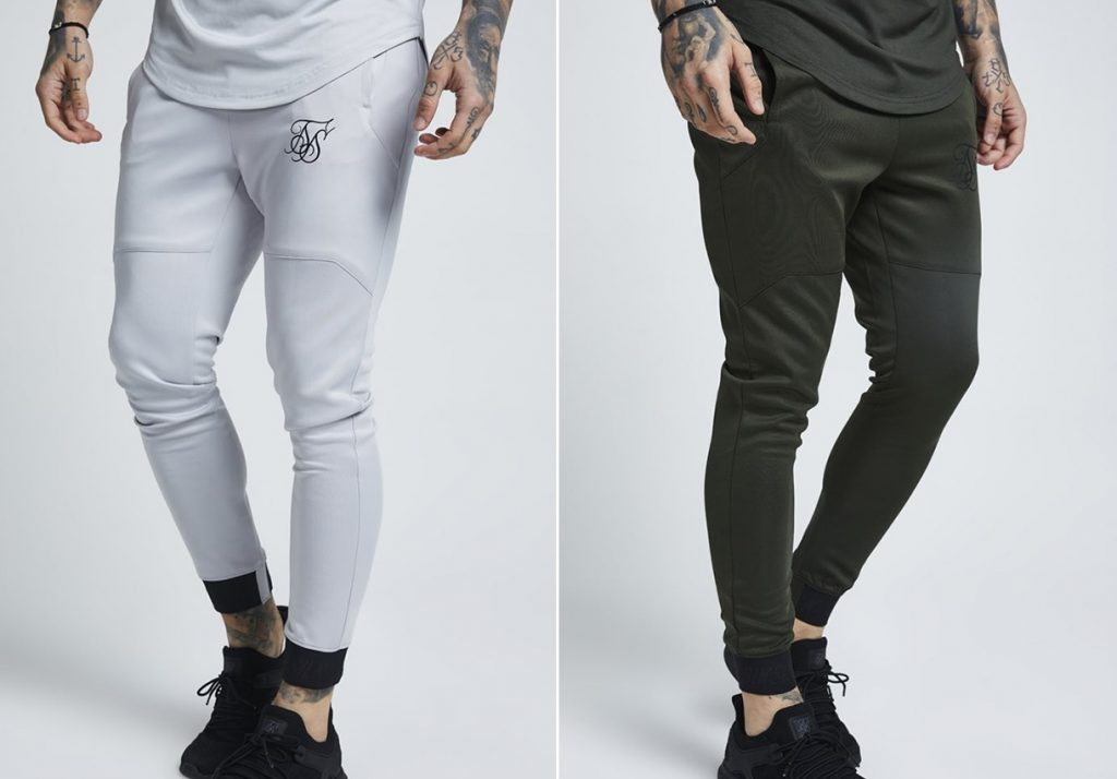 "Sik Silk ""Agility"" Stretch Joggers -- Ice Grey & Khaki"