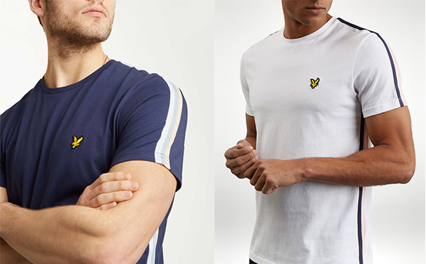 Side Stripe T Shirt by Lyle and Scott