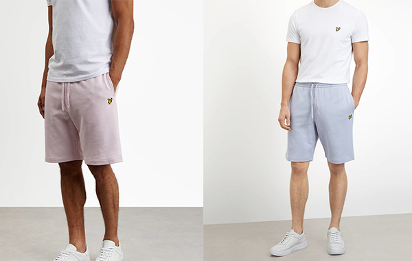Sweat Short by Lyle and Scott in Lilac Pink and Cloud Blue