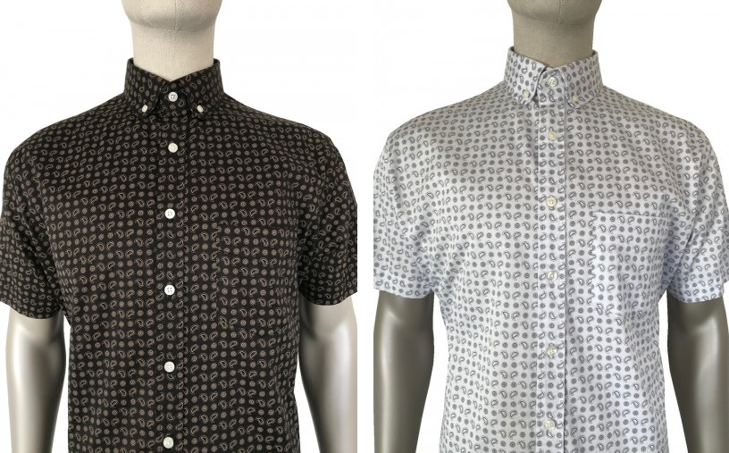 Penny Round Mono Paisley Shirt by Ska and Soul
