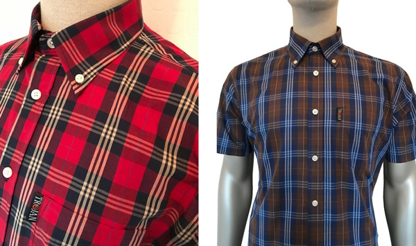 Tartan Check Shirt by Trojan in Blood, Chocolate