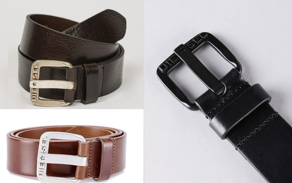 B-Star Cintura Leather Belt by Diesel  |  Dark Brown, Black, Tan