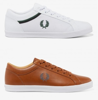 Baseline Leather Shoes by Fred Perry