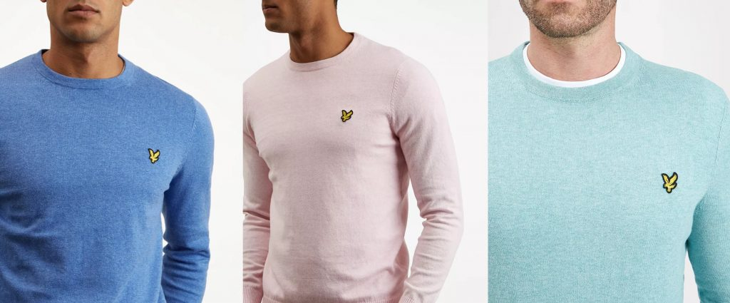 Cotton Merino Crew Jumper by Lyle and Scott